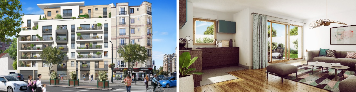 Vue Residence Gambetta Colombes, Nue propriete Expatrimo