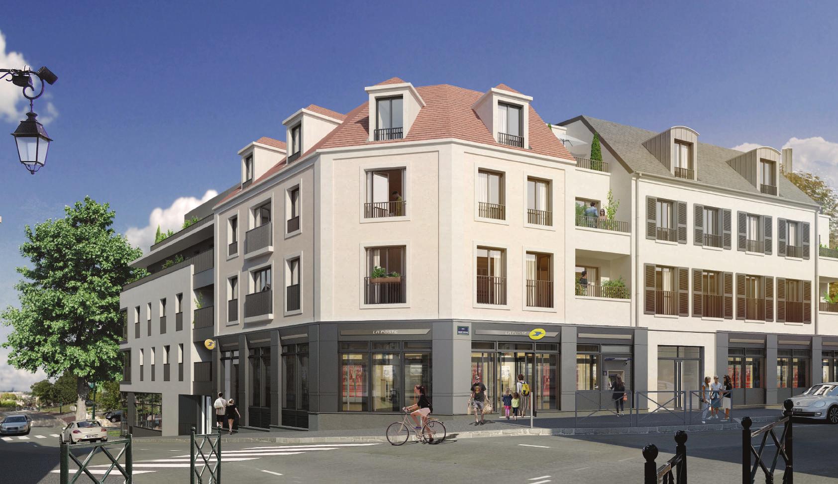 Vue residence Clos Sevigne rues Semard et Berteaux