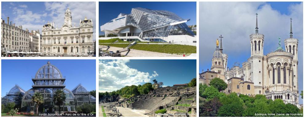 Images de la ville de Lyon