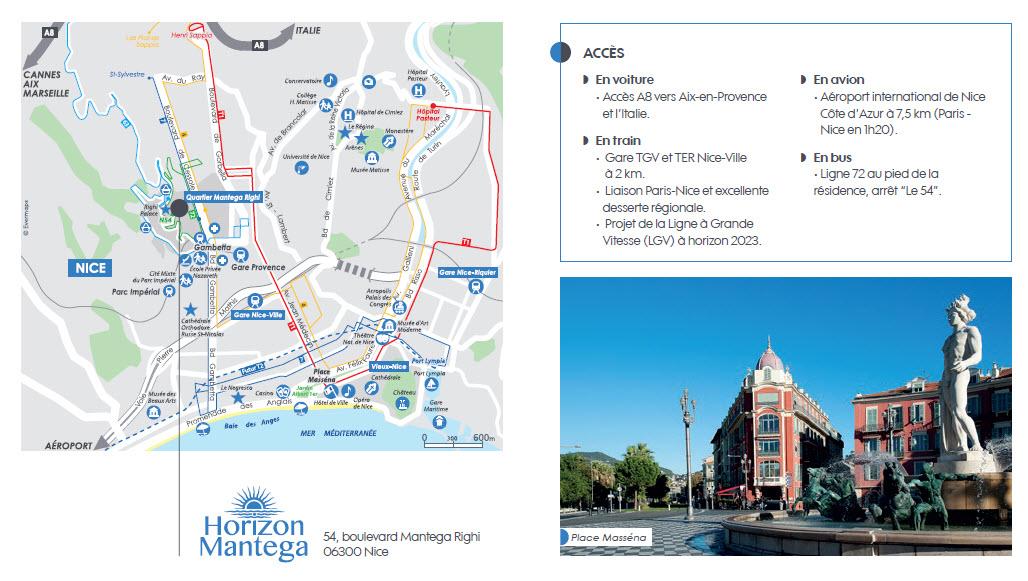 Plan et Acces Quartier Mantega