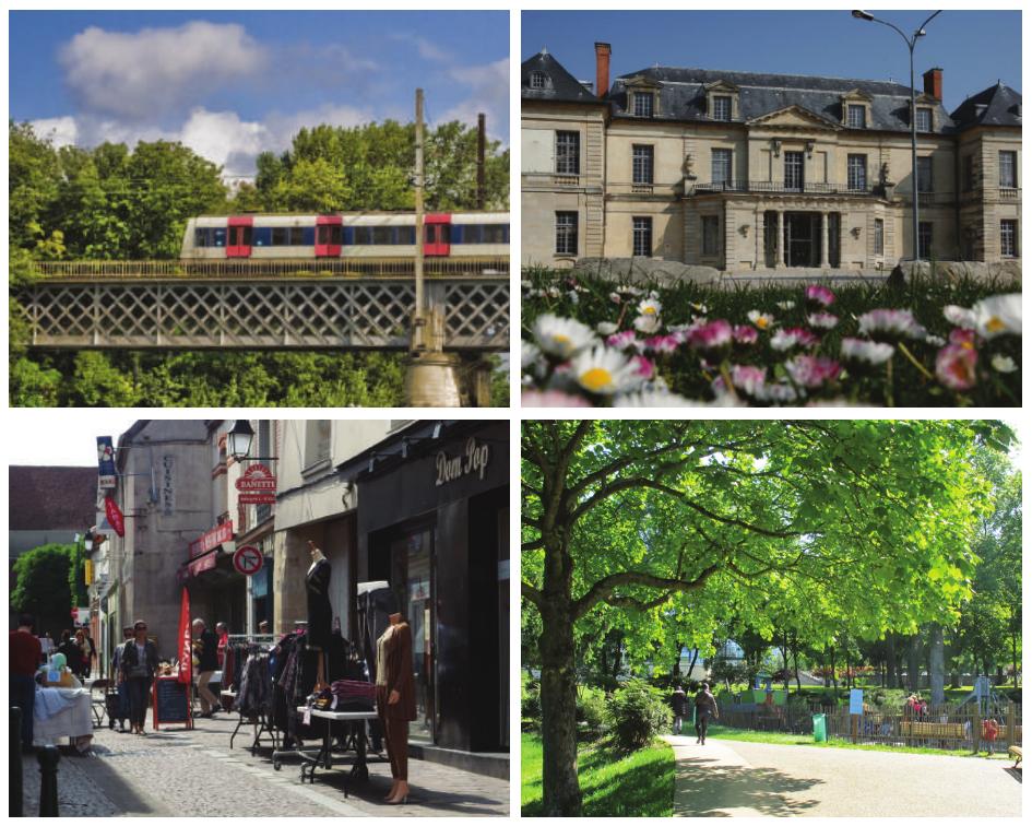 Sucy en Brie, RER A, Chateau, Rue Moutier, Parcs